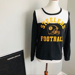 PINK Victoria's Secret Steelers Football Pullover